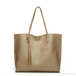 $enCountryForm.capitalKeyWord Australia - Solid Color Wild Tassel Female Handbags Trendy Multi Colors Shoulder Bags PU Leather Large Capacity Ladies Bags New Fashion Women Handbags
