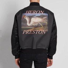$enCountryForm.capitalKeyWord NZ - Heron Preston Hp Crane Flying Cotton Jacket Baseball Uniform Short Outdoor Autumn Winter Coats Warm Fashion Street Outerwear Hfymjk170