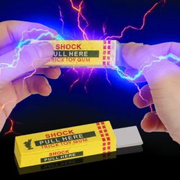 Safety Gadgets Australia - Safety Trick Joke Toy Electric Shock Shocking funny Pull Head Chewing gum Gags Anti-stress Gadget Joke Prank Trick Toy Novelty Funny Toys