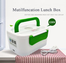 green box containers NZ - Besuit 220V Portable Electric Heating Lunch Box Food-Grade Food Container Food Warmer For Kids 4 Buckles Dinnerware Sets C18112301