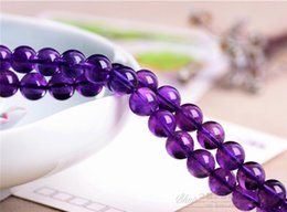 $enCountryForm.capitalKeyWord Australia - Wholesale 38 Pcs lot High Quality 5A Purple Crystal Charms Pendants for Jewelry Making Natural Stone Loose Gemstones 10mm