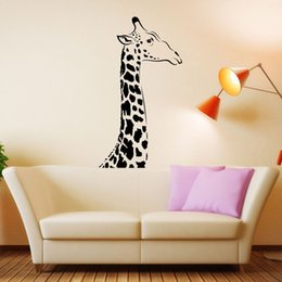 $enCountryForm.capitalKeyWord NZ - African Mammal Animal Giraffe Wall Decal Art Decor Sticker Vinyl Wall Stickers For Kids Room Nursery Baby Wall Decals Boys