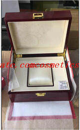$enCountryForm.capitalKeyWord NZ - High Quality Topselling Red Nautilus Watch Original Box Papers Card Wood Boxes Handbag For Aquanaut 5711 5712 5990 5980 Watch Boxes