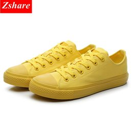 $enCountryForm.capitalKeyWord Australia - Brand Men Canvas Shoes Classic Sneakers Mens Shoes Casual Black White Yellow Men Vulcanized Lace-up Flats Plus Size 35-46