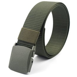 Men's Belts Fashion Army Tactical Canvas Belts For Men High Quality Military Pin Buckle Man Belt For Causal Jeans Wide Strap Male Good Price Drip-Dry