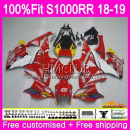 mold body Australia - Injection mold For BMW S 1000RR S1000 RR S1000RR 18 19 Bodywork Gloss red 34HM.12 S1000-RR S 1000 RR 2018 2019 OEM Body 100% Fit Fairing