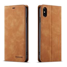Pour iPhone X Xs XR Xs Max Housse En Cuir PU Couverture De Portefeuille De Luxe Pour iPhone 6s 7 8 Plus En Cuir PU en Solde