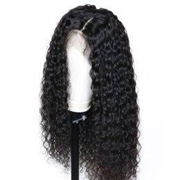 long 18 inch brazilian hair UK - 360 Lace Frontal Wig Deep Wave 12 inch Pre Plucked with Baby Hair Curly Human Hair for Black Women 360 Full Lace Front Wigs Bleached Knots
