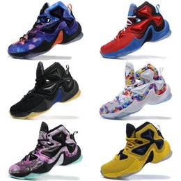 e576a4fea23 Cheap New Lebron 13 XIII basketball shoes Blue Black Gold Gym Red Galaxy  Brown Grey White Kids Men Shoes