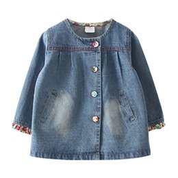 $enCountryForm.capitalKeyWord Australia - 2018 Autumn Spring Fashion2 3 4-8 10 Years Teenage Christmas Gift Little Child Baby Coat Tops Floral Denim Jacket For Kids Girls