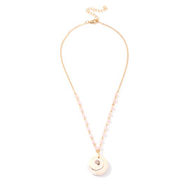 $enCountryForm.capitalKeyWord Australia - Shell Choker Necklace Natural Cowrie Shell Pendant Necklaces Handmade Conch Seashell Beach Jewelry for Women