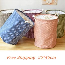 toy laundry baskets Australia - Lovely Point Basket For Toys 35*45CM Linen Laundry Basket Folding Dirty Clothes Storage Storage Basket SH190923