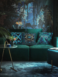 decorative european pillow covers 2019 - Luxury Classical European Design Velvet Cushion Cover Printed Pillow Cover Pillowcase Home Decorative Sofa Throw Pillows