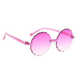 4ff2223a1fac DLH05 Children Kids Flower Sunglasses Round Multi Optional Transparent  Color Ready Goods Girls Boys Quality BOTERN EYEWEAR FREE Shipping
