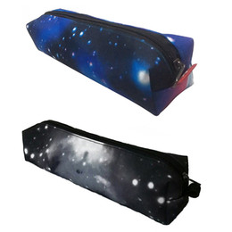 $enCountryForm.capitalKeyWord Australia - Galaxy Stars Printing Makeup Bag For Women Pen Bags Pouch For Students School Kid Pencil Case Office School Stationery Supply