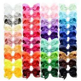$enCountryForm.capitalKeyWord Australia - 3 inch 40 Bulk Small Toddler Ribbon Bows Alligator Hair Clips Solid Children Hair Bows For Pigtails Little Girl Hair AccessoriesMX190917
