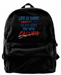 $enCountryForm.capitalKeyWord UK - Live your dreams play with passion Canvas Shoulder Backpack For Men & Women Teens College Travel Daypack Knapsack Laptop Designer bag