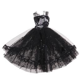 $enCountryForm.capitalKeyWord Canada - Stylish 1 6 BJD Fashion Doll Dress Form Wedding Dress Evening Gown Pettiskirt Garment For 12inch Doll Party Dancing Outfit Black