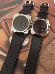 $enCountryForm.capitalKeyWord NZ - Wristwatch Aviation Chronograph Quartz Heritage Black Dial Grey Number R0194 Mens Watches Diver Leather Strap Steel Case Sport Wristwatches
