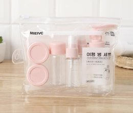 Discount makeup bottles - Travel Mini Makeup Cosmetic Bottle Set Face Cream Pot Bottles Plastic Transparent Empty Make Up Container Bottle Travel