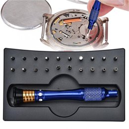 Part kits online shopping - 20pcs Special shaped Precision Screwdrivers Set Watch Case Opener Watch Repair Tool Kits Clock Parts for Watchmaker Tools