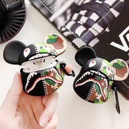 earphone bear Australia - Cute cartoon Bear Wireless Bluetooth Earphone Case For AirPods Case Charging Box Protective Cases For Airpod Silicone Cover