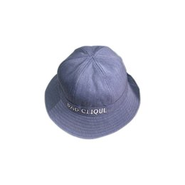 1a0a705488fb3b New Korean version hat, spring and summer embroidered letters, potted hat,  leisure outdoor fisherman hat, fashionable male sunshade hat