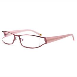 $enCountryForm.capitalKeyWord UK - Women Fashion Comfortable Wearing Design Pink Color Metal Hollow Eyewear Frame Acetate Templs Wholesale Price Free Shipping SM4029
