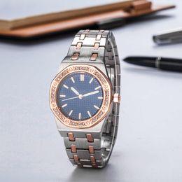 Brand Luxury Style Watch Australia - 2018 New Fashion Style Women Watch Big diamond Lady Steel Chain wristWatch Luxury Quartz clock High Quality leisure fashion brand watch