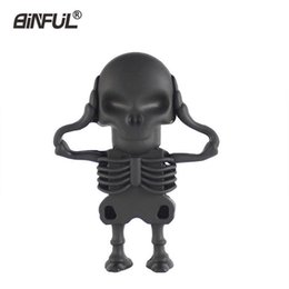 flash drive memory pen drives NZ - Cute Cartoon Skeleton 4gb 8gb 16gb 32 gb 64gb Memory Stick Halloween Pen Drive Usb Flash Card