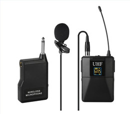 bodypack transmitter UK - UHF Wireless Lavalier Lapel Microphone System with Bodypack Transmitter Mini XLR Female Lapel Mic and Portable Receiver1 4 Inch Output