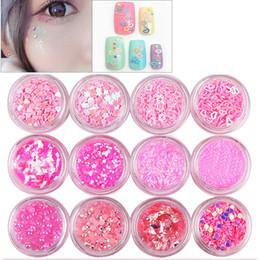 Wholesale Glitter Lips Australia - Aikimuse Hot Sale 12pcs set Glitter Eye Shadow Cosmetic Makeup Diamond Lips Loose Makeup Eyes Pigment Powder