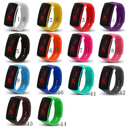 Screen candy online shopping - Fashion Sports LED Watches Candy Jelly men women Silicone Rubber Belt Touch Screen Digital Watches Bracelet Wrist watch Wristwatch