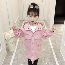 Korean new product online shopping - Autumn New Products Hot Girls Fashion Wild Single breasted Korean Version of The Trend of Solid Color Hooded Jacket Trench Coat
