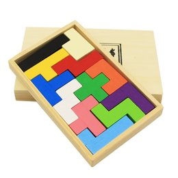 Kids Block Games Australia - Building block plywood Square plate Children puzzle toy Brain-burning game Intelligence Educational Toys Creative Gift For Kids Children