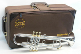 Wholesale Bach Professional Bb Trumpet LT180S-43 Silver Plated Instruments Musicales Profesionales with Mouthpiece Case