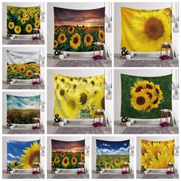venda por atacado 13 estilos Girassol Impressão 3D Cobertor Tapeçaria arte Doméstica Fit Tapeçaria de Parede Moda Criança Adultos Toalha de Praia decoração da sua casa FFA2914