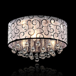 Pattern Decor Australia - Modern Crystal Led Chandelier Luxury Decor Ceiling Living Room Bedroom Lighting Clear Glass Pattern Cloth Shape White Luster