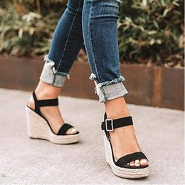 $enCountryForm.capitalKeyWord Canada - Eoeodoit Summer High Wedges Heel Sandals Fashion Open Toe Platform Elevator Women Leather Serpentine Shoes Plus Size Pumps 2019 Y19070103