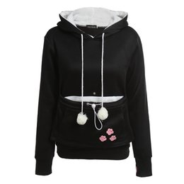 $enCountryForm.capitalKeyWord Australia - Cat Lovers Hoodies With Cuddle Pouch Dog Pet Hoodies For Casual Kangaroo Pullovers With Ears Sweatshirt Xl Drop Shipping T190821