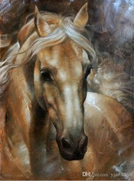 Art Canvas Prints Australia - Y J ART head horse 2 western horse Modern Framed Horse Giclee Prints Oil Paintings Reproduction Pictures on Canvas Wall