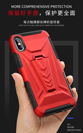 Discount alcatel hard phone cases For Alcatel 3C 1V 2019 LG K20 K40 Stylo5 K50 K8 2018 2019 Stealth Bracket Function Anti Drop Soft Hard Combination Phone
