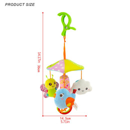 animal bedding bag NZ - Color Funny Baby Toy Animal Cart Pendant Hanging Umbrella Bed Hanging 0-1 Year Old Comfort Plush Toys