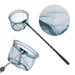 $enCountryForm.capitalKeyWord Australia - Retractable 180cm Fishing Net Telescoping Aluminum Alloy Pole Foldable Fishing Landing Net Tackle Carp Mesh Nets