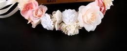 Hawaiian Hair Australia - Beach Holiday Hawaiian Flower Ring Bride Headdress Flower Ring Simulated Hair Ring Photographic Accessories