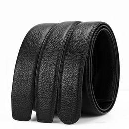 Canvas Cow Prints UK - 2019-07 Men's 2-layer leather 3.5 Men's belt automatically buckles headless cow belt