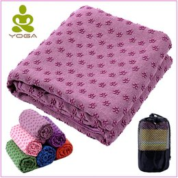 anti skid mats NZ - 183cm*61cm 72''x24'' Non Slip Yoga Mat Cover Towel Blanket with Free Bag Sport Fitness Exercise Pilates Workout Anti Skid