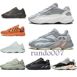 new styles 5bd41 584cd adidas yeezy yeezys boost con scatola 2019 miglior designer scarpe runner  700 V2 3M Kanye West scarpe Mauve Salt Vanta uomo donna Running sneakers