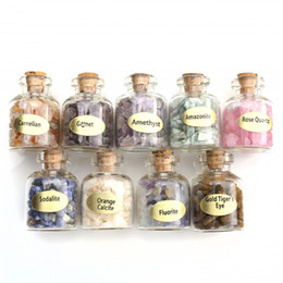 $enCountryForm.capitalKeyWord Australia - Sunligoo 9 Bottles Mini Semiprecious Gem Stone Chip Crystal Healing Tumbled Reiki Wicca Travel Natural Stones Decoration Q190522