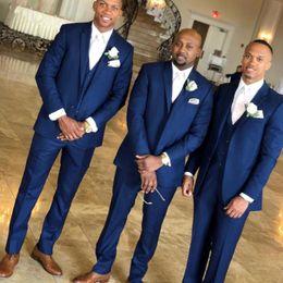$enCountryForm.capitalKeyWord Australia - Navy Blue Men Suits for Wedding Groom Tuxedo Suits Formal Best Man Jacket Groomsmen Blazer trajes de hombre 3Piece Slim Fit Terno Masculino